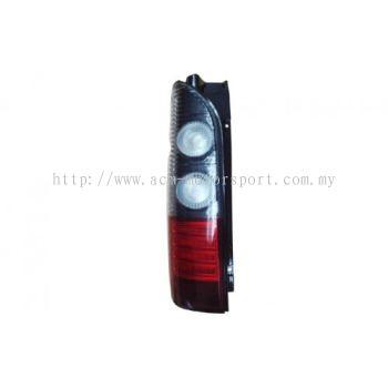 Hiace 04 Rear Lamp Crystal LED Smoke/Red