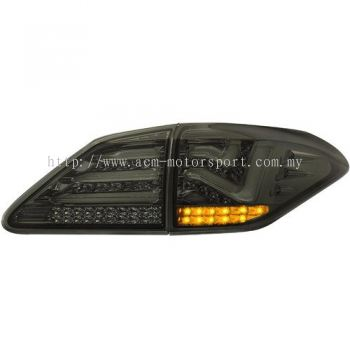 RX350 Rear Lamp Crystal LED + Light Bar Smoke ..