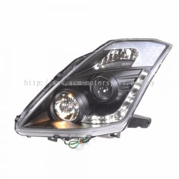 350Z Head Lamp Projector Black W/DRL