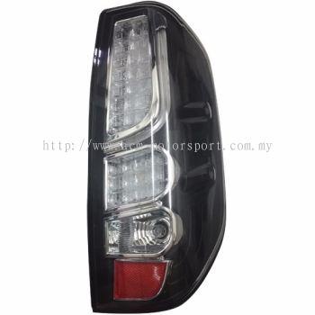 Navara Rear Lamp Crystal Black LED + Light Bar