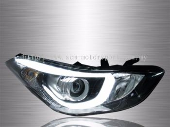 Elantra Projector LED Light Bar Head Lamp 11~16