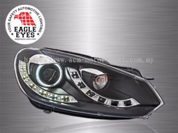 Golf 6 Projector LED Starline Cool Look Head Lamp 09~12