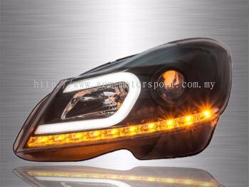 Mercedes Benz W204 Projector LED DRL Head Lamp 12~15