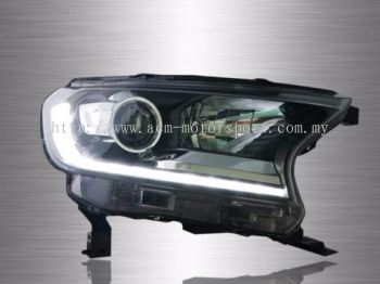 Ford Ranger T7 Projector LED Light Bar Head Lamp 16-17