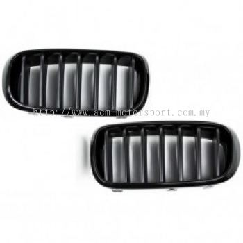 BMW X16 Front Grille Gloss Black