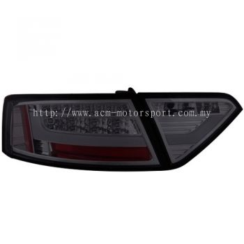 Audi A5 08 Rear Lamp Crystal LED + Light Bar Smoke