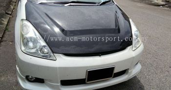 toyota wish carbon look hood