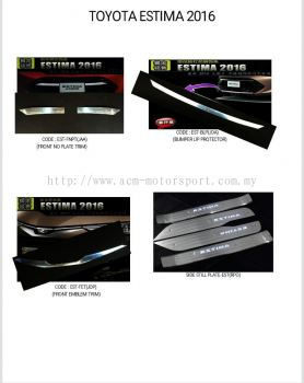 Toyota estima 2016 chrome product