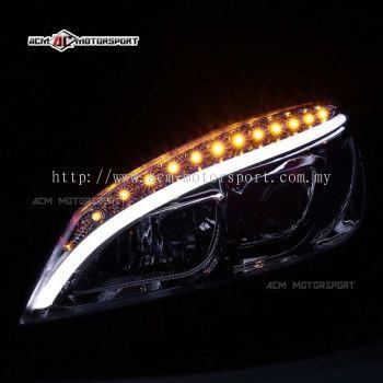 Mercedes benz W204 headlamp conversion w205 style