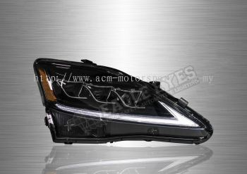 Lexus IS-250 Projector LED Sequential Signal DRL Head Lamp 06-12