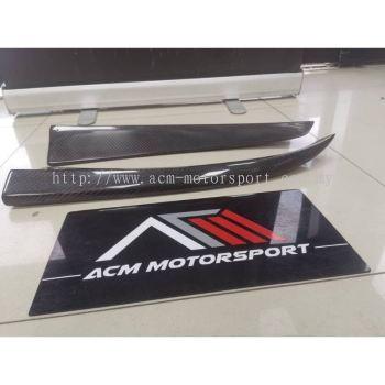 Mercedes benz W117 rear bumper carbon fiber canard