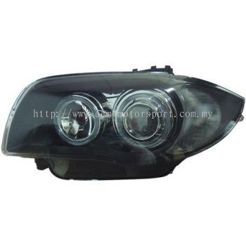 BMW E82 E87Head Lamp Projector Black W/LED Rim