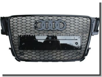 Audi A5 08'' RS Front Grill Gloss Black