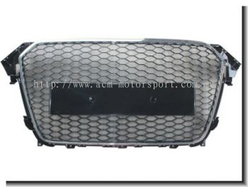 Audi A4 B8 12'' Rs Front Grill Chrome / Black