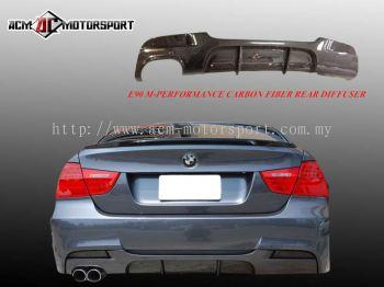 BMW E90 LCI Performance Rear Diffuser