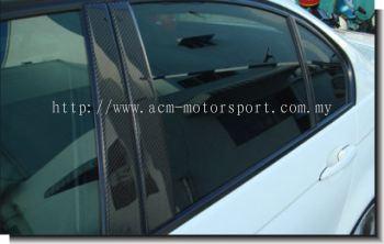BMW E46 2 door carbon fiber pillar
