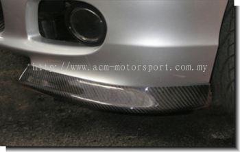 BMW E46 M-Tek SMG front carbon fiber splitter (2 or 4 Door)