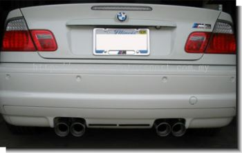 BMW E46 M3 rear bumper ( for dual exhaust )