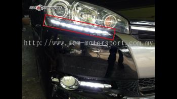 Toyota Wish 2012 head lamp bumper daylight