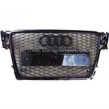 Audi A4 Rs grille 08 gloss black