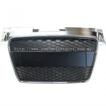Audi TT RS front grille Black/Chrome W N/plate cover