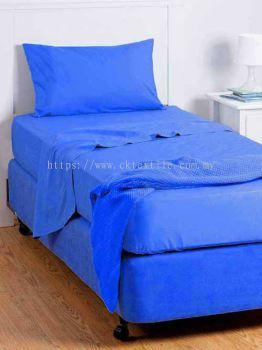 Ck Hostel Type Single Bedsheet Set (Blue)