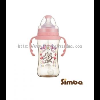 SIMBA (HANDLE) DOROTHY WONDERLAND PPSU WIDE NECK 270ML - PINK