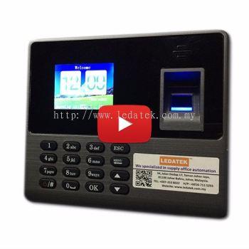 LEDATEK BC-188 Fingerprint Time Recorder Demo Video