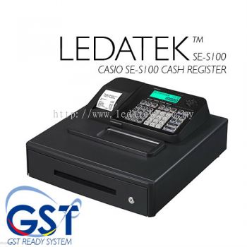 LEDATEK CASIO SE-S100 CASH REGISTER WITH GST SUPPORT