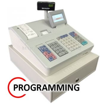 SHARP XE-A307 CASH REGISTER START-UP PROGRAMMING