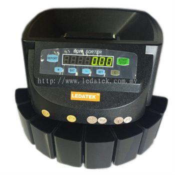 LEDATEK LC-550-BK Coin Sorter / Coin Counter