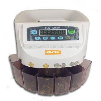 LEDATEK LC-550-WH Coin Sorter / Coin Counter