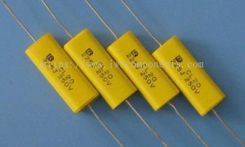 Metallized Polyester Film-Flat Axial Capacitor CL20