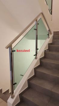 Stainless Steel Glass Staircase 72