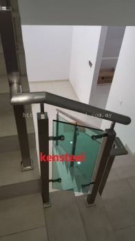 Stainless Steel Glass Staircase