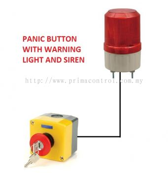 EMERGENCY ALARM PANIC BUTTON WITH LIGHT AND SIREN Malaysia Thailand Singapore Indonesia Philippines Vietnam Europe USA