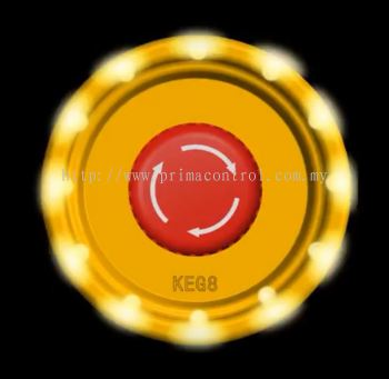 EMERGENCY STOP GUARD WITH LIGHT KEG8L Malaysia Thailand Singapore Indonesia Philippines Vietnam Europe USA