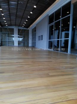 Chengal Decking with Transparent Coating