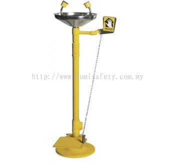 S/Steel Bowl Emergency Eyewash with Foot Pedal