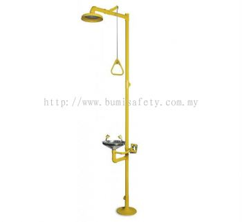 Combination Unit Of ABS Drench Shower & S/Steel Eyewash Bowl