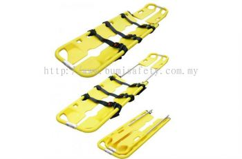 Folding Scoop Stretcher w,Thermally-Treated Polymer material Shelve