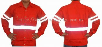 Safety Jacket Button RED