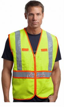 Custom Made Polyester Oxford Fabric Safety Vest