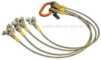 4 LEGGED WIRE ROPE SLINGS