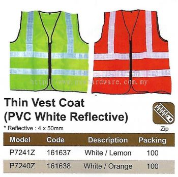 SAFETY VEST - PVC WHITE REFLECTIVE (SW-SV02)