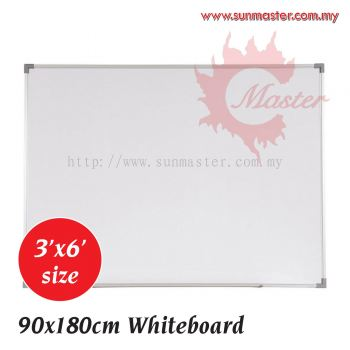 3' x 6' Single Magnetic White Board with Aluminium Frame