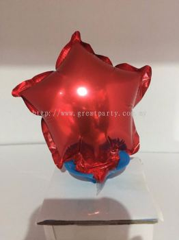 5 Inch Star Shape (Red)
