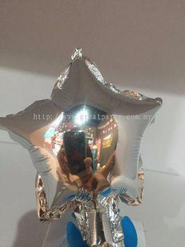 5 Inch Star Shape (Silver)