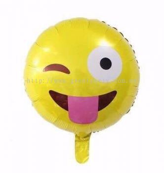 18 Inch Emoji Foil Balloon ( 1 pcs )