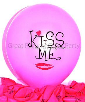 Pink Balloon Kiss Me (10pcs)